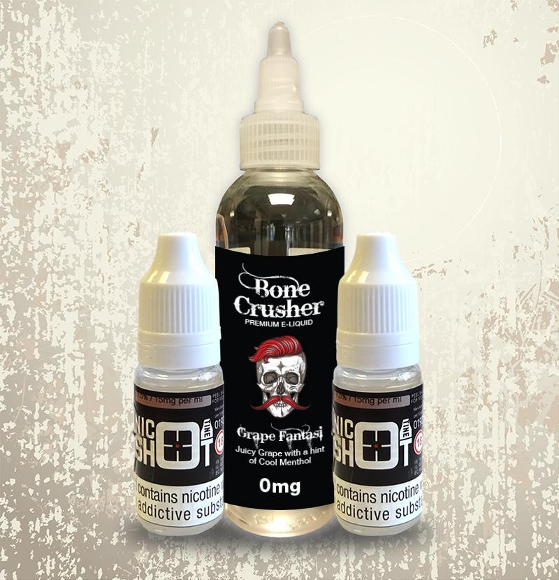 Bone Crusher 100ml - Grape Fantasi (with 2 Nicotine Shots)