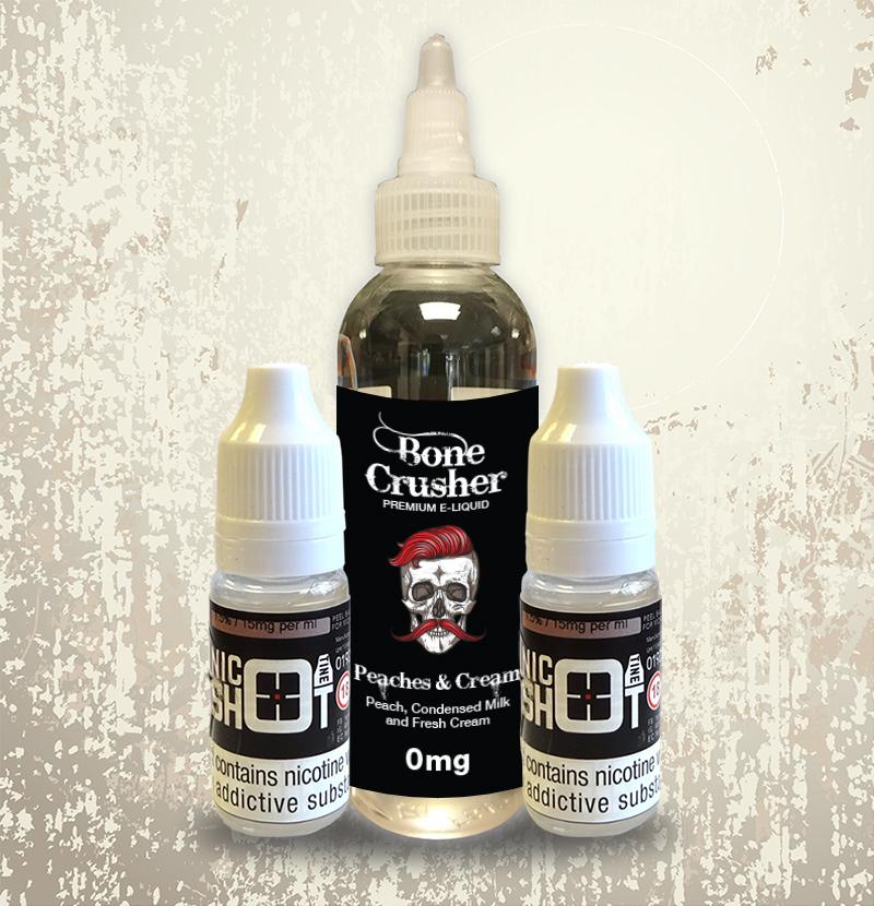 Bone Crusher 100ml - Peaches & Cream (with 2 Nicotine Shots)